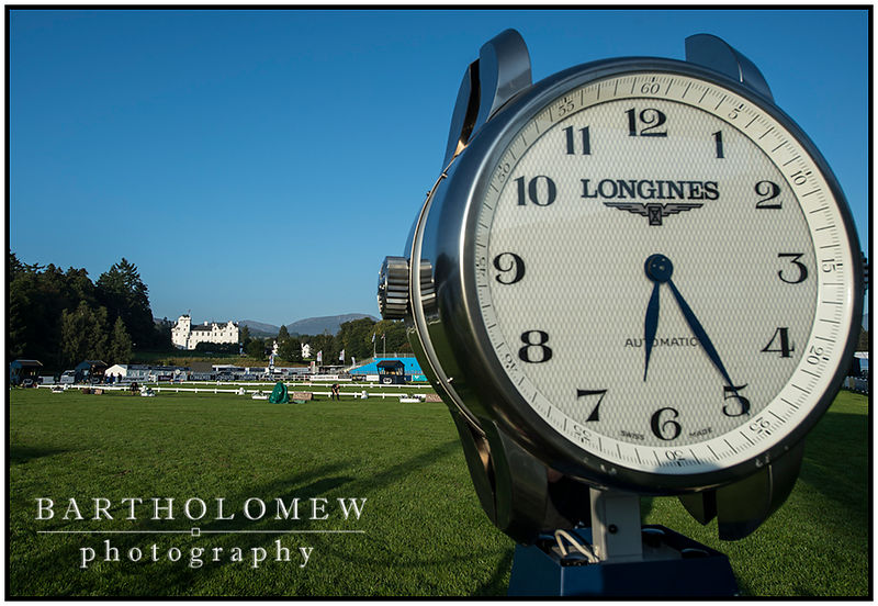 FEI European Eventing Championships 2015 Blair Castle. Timing equipment by Title sponsors Longines in the main arena.
