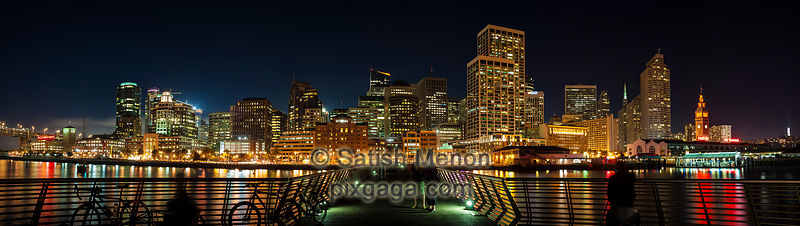 San Francisco Night Skyline (Pier 14), California, USA
