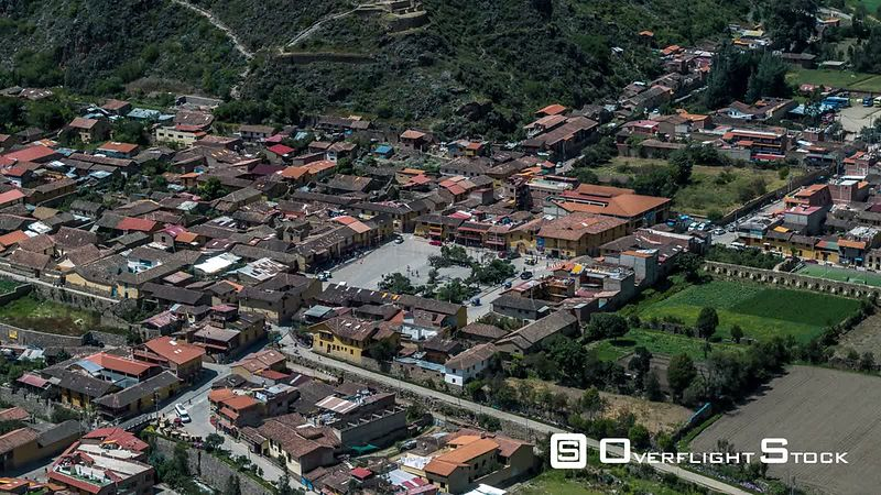 Town Center, Ollaytantambo, seen by drone