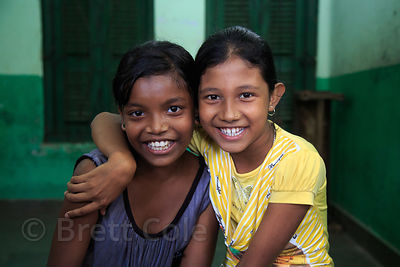 Girls at a shelter in Kumartoli, Kolkata, India