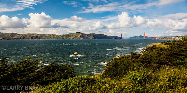 Golden Gate Bridge viewed from Coastal Trail in San Francisco, USA