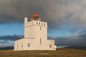 Dyrholaey Lighthouse on the Southern Coast of Iceland