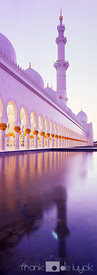 Reflection of one of the minarets of Sheikh Zyed Mosque, Abu Dhabi.