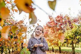Younger Nordic girl and pear trees 14