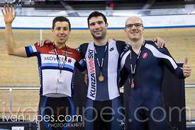 Master A Men Kilo Time Trial Podium. Ontario Track Championships, March 4, 2018