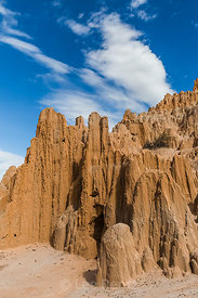 Eroded Siltstone Formations in Cathedral Gorge State Park