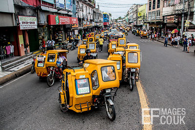 Congested Street With Many Electric Tricycles In Sorsogon City