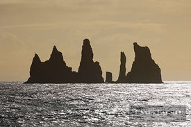 Ocean impression with sea stacks Reynisdrangar - Europe, Iceland, Southern Region, Vik - digital