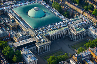 London. Aerial view of the British Museum