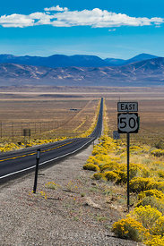 Heading East along Lonely US 50 in Nevada