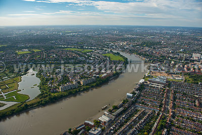 London. Aerial view of Richmond upon Thames