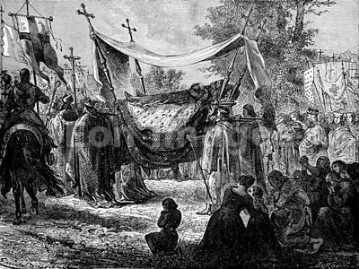 Funeral of French king Louis IX