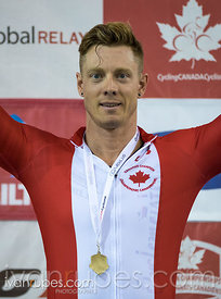 Master A Men Sprint Podium. 2017 Canadian Track Championships, September 29, 2017