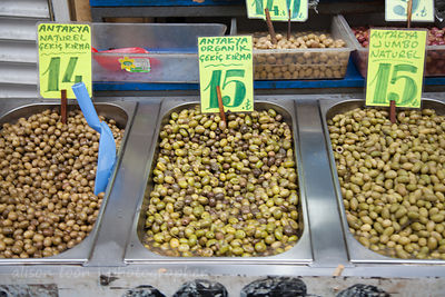 Olives for sale in the spice market, Istanbul