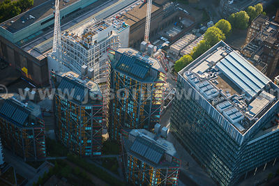 Aerial view of NEO Bankside and the Blue Fin Building, London