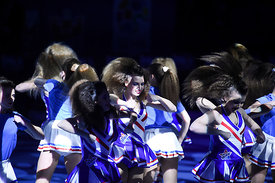 Dancers during the Final Tournament - Final Four - SEHA - Gazprom league, Bronze Medal Match Meshkov Brest - PPD Zagreb, Bela...