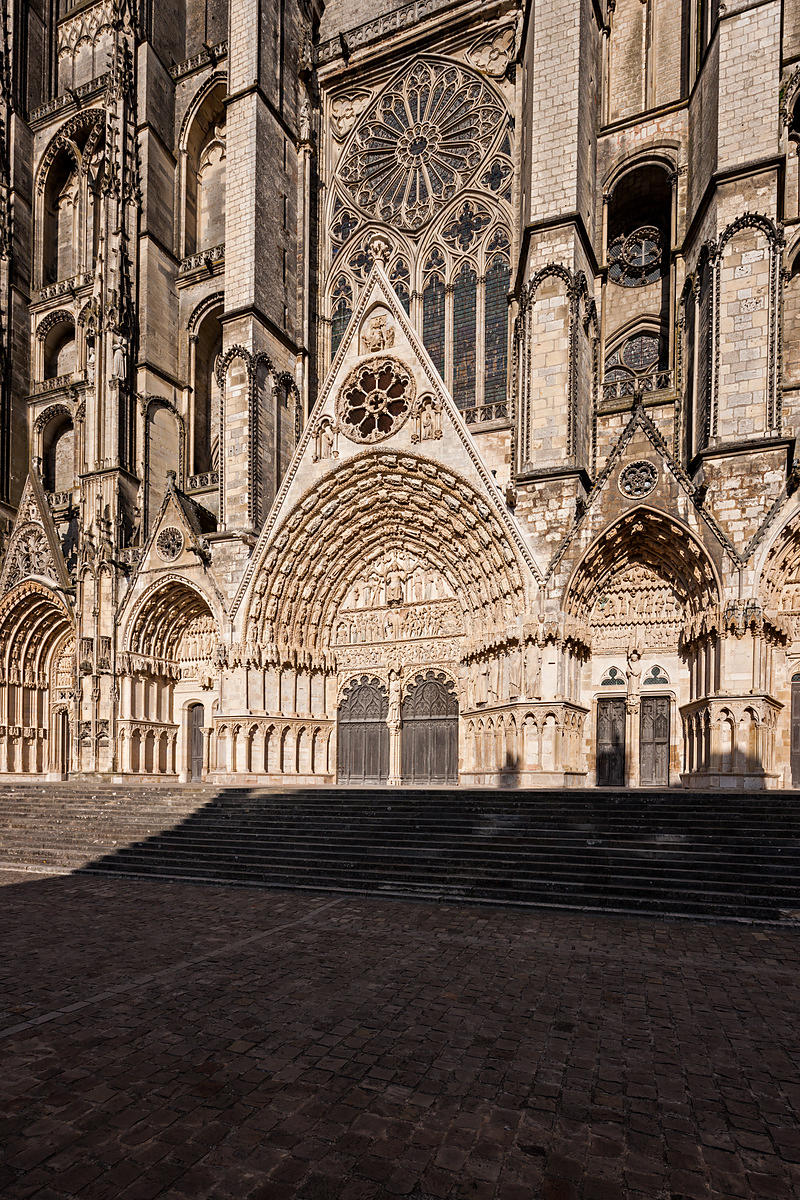 Western facade of Bourges cathedral