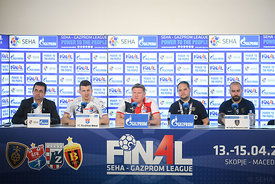 Ljubo Vukic, Sergii Bebeshko,  Branko Tamse and Igor Anic during the Final Tournament - 3rd place match - Meshkov Brest vs Ce...