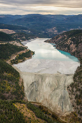 Tailing Pond at Copper Mountain Mining Corporation Similkameen Princeton BC Canada