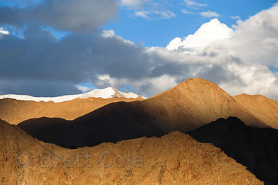 Late afternoon light on the Himalayas in Leh, Ladakh, India