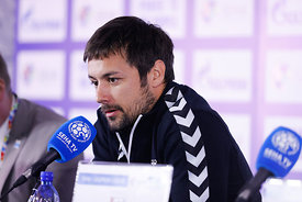 Zlatko Horvat during the Final Tournament - Final Four - SEHA - Gazprom league, Press conference in Brest, Belarus, 06.04.201...
