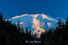 Last Sunlight of the Day on Mount St. Helens in Winter