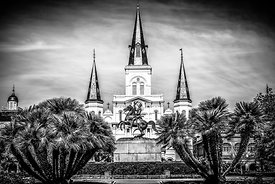 St. Louis Cathedral in New Orleans Black and White Picture
