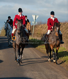 Pytchley Huntsman Daniel Cherriman and Rowan Cope MFH