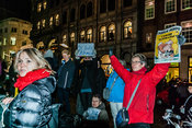 Amsterdam, Netherlands 2015-01-08: Participants at the demonstration and protest rally: 'Je suis Charlie'.