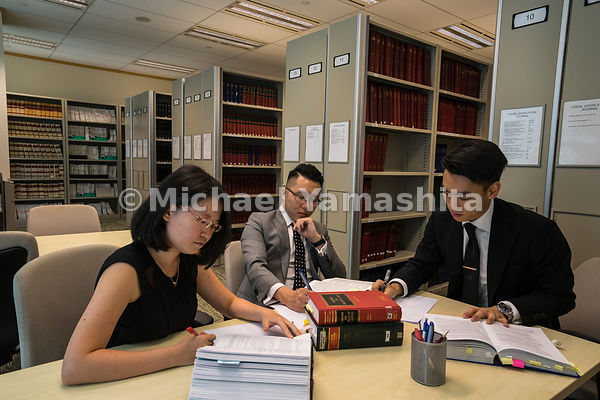 Allen and Gledhill Law Firm pics taken in the law library