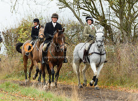 Charlie Smith, Frankie Wyatt. The Cottesmore Hunt at Somerby