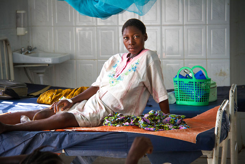 Woman waiting for labour, Shinyanga District Hospital, northern Tanzania.