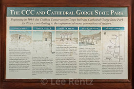 Sign about the CCC in Cathedral Gorge State Park