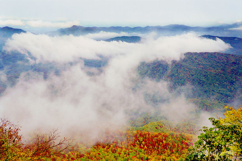 GREAT SMOKY MOUNTAINS NATIONAL PARK IN FALL COLORS