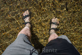 Self-Portrait of Legs in Merced River in Yosemite National Park