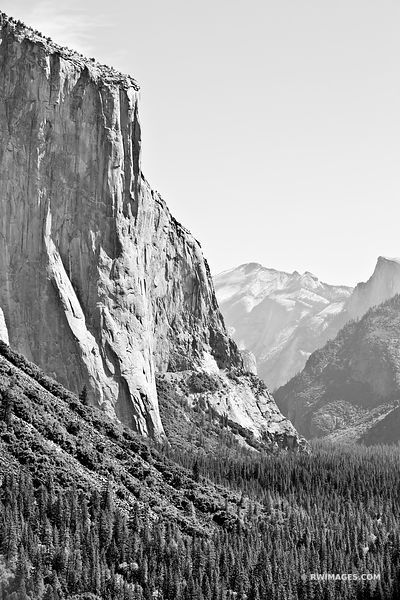 EL CAPITAN TUNNEL VIEW YOSEMITE NATIONAL PARK BLACK AND WHITE