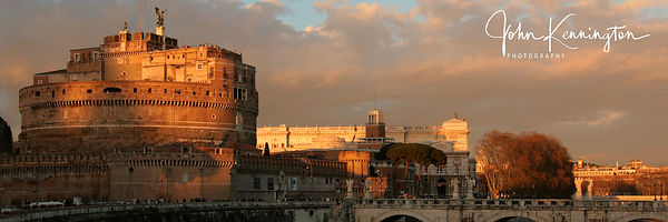 SOLD - Castel Sant'Angelo, Rome, Italy 12x30 Canvas Wrap
