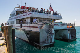 Ferry Arriving at Fort Jefferson Dock in Dry Tortugas National Park