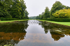 FOUNTAINS ABBEY,RIPON, ENGLAND, UK - SEPTEMBER 04, 2017: Cistercian Monastery grounds and ruins of Fountains Abbey in North Yorkshire, England, UK.