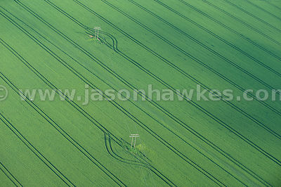 Aerial view of Fields, Ardleigh, Essex