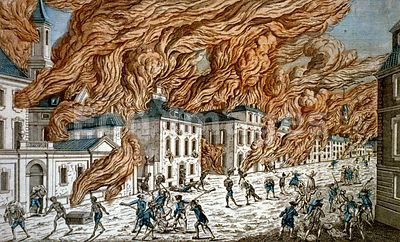 Great Fire in New York City during British occupation, 1776
