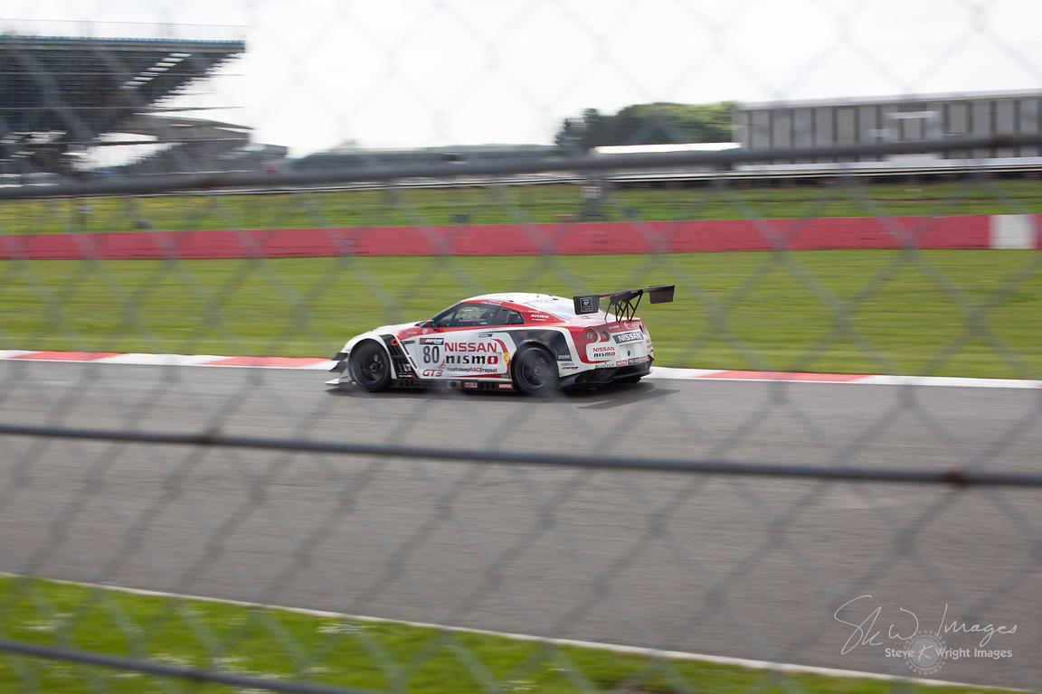 Olympic cycling gold medallist Sir Chris Hoy's Nissan GT Academy Team RJN GT-R GT3, in action at the Silverstone 500 - the th...