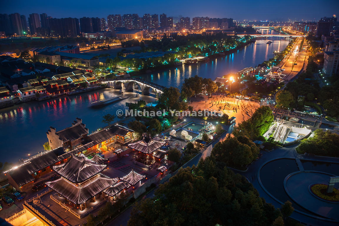 Barges long piled the 1,100-mile canal between Beijing and Hangzhou, its glittering southern terminus. Bankside revitalizatio...