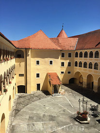 Courtyard in Mokrice Castle
