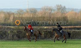 Kit Henson, Paul Towns at Hose Thorns. The Belvoir Hunt at Highfield Farm 12/12
