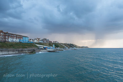 Cromer, North Norfolk on a stormy summer evening