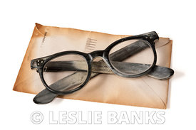 Vintage Glasses and Letter