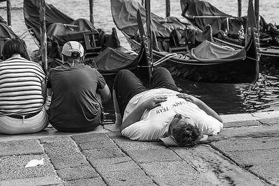 Sailor's nap, Venice