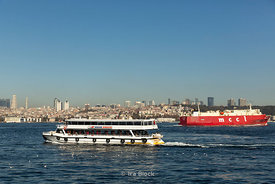 Ships in the Bosphorus near Istanbul.