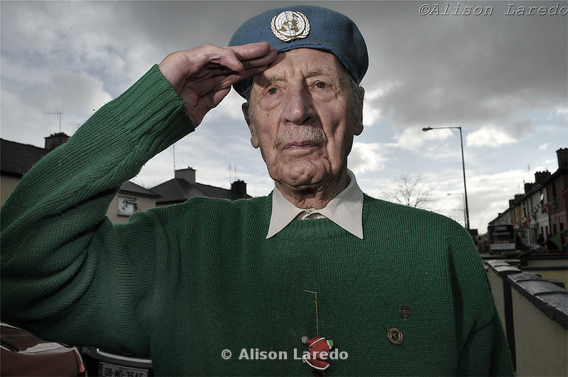 Old soldier at St Patrick's Day Parade, Castlebar, Mayo. Photo: Alison Laredo